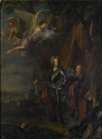 Maximilian II Maria Emanuel (1662-1726), Elector of Bavaria, at the Battle of Mohacs against the Turks