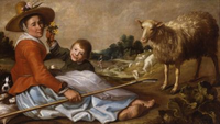 Shepherdess with Child in a Landscape