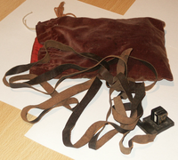 Tefillin in a velvet bag