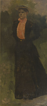 Portrait of a Woman in a Pink Blouse