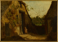 Landscape with Barns