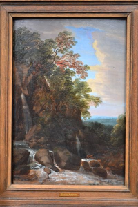 Landscape with Rocks, Mountain Stream and Abbey